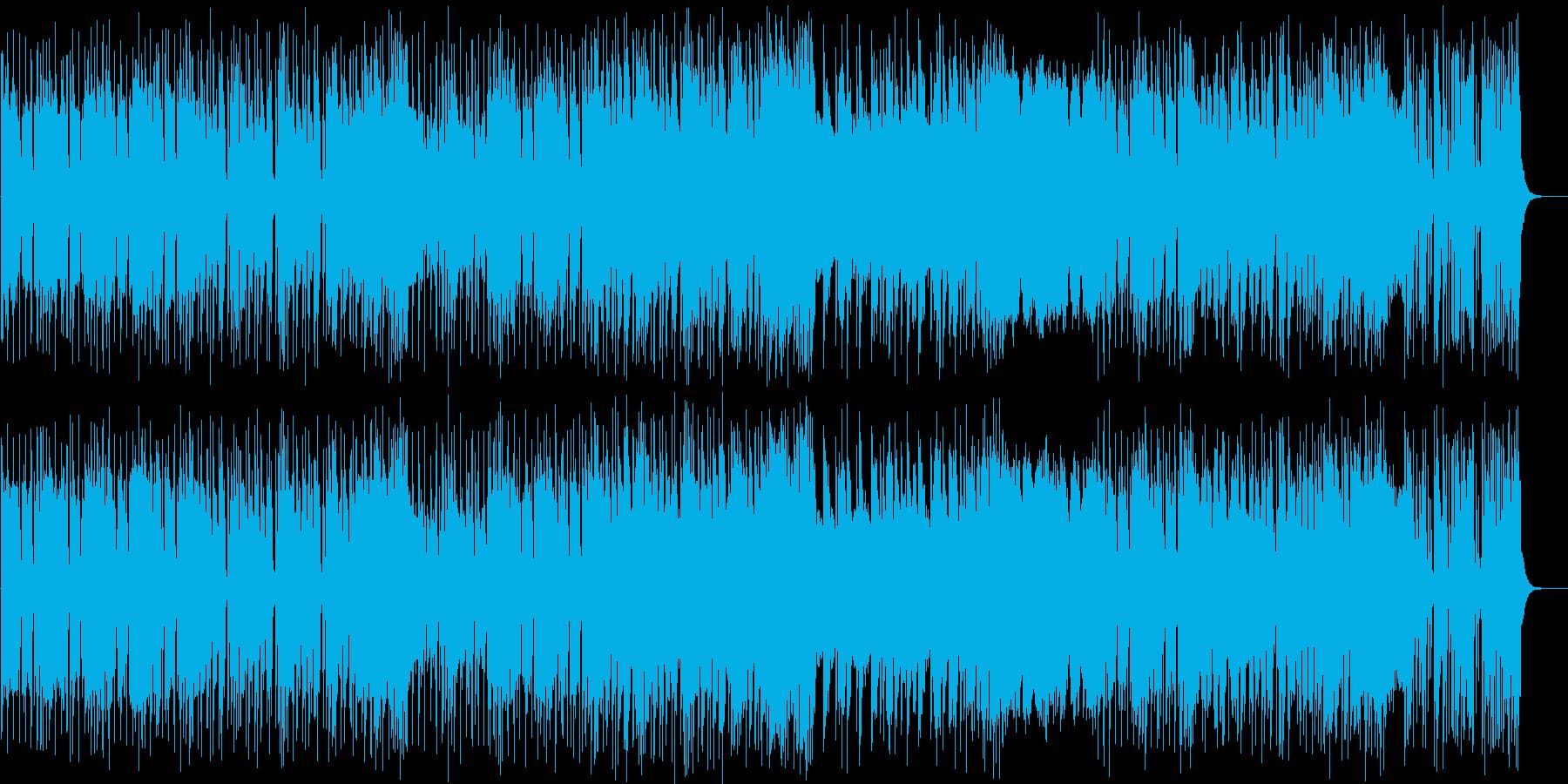 強烈ビートのヘビーメタルの再生済みの波形