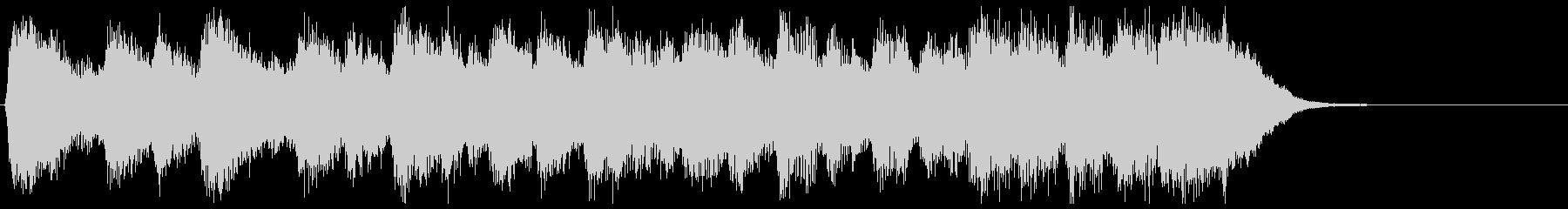 古風で格調高いフルオケジングル合唱付の未再生の波形