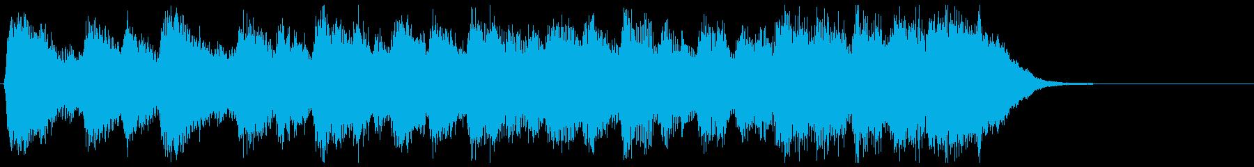 古風で格調高いフルオケジングル合唱付の再生済みの波形