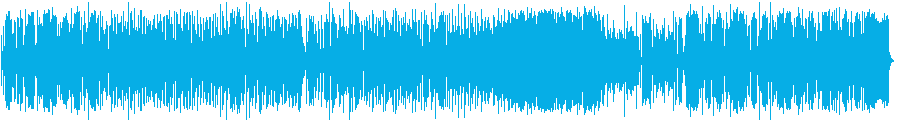疾走感のあるアップテンポなミュージックの再生済みの波形