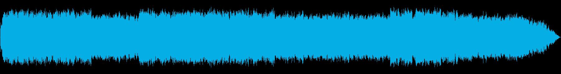 ゆったりとした優しい笛のヒーリング音楽の再生済みの波形