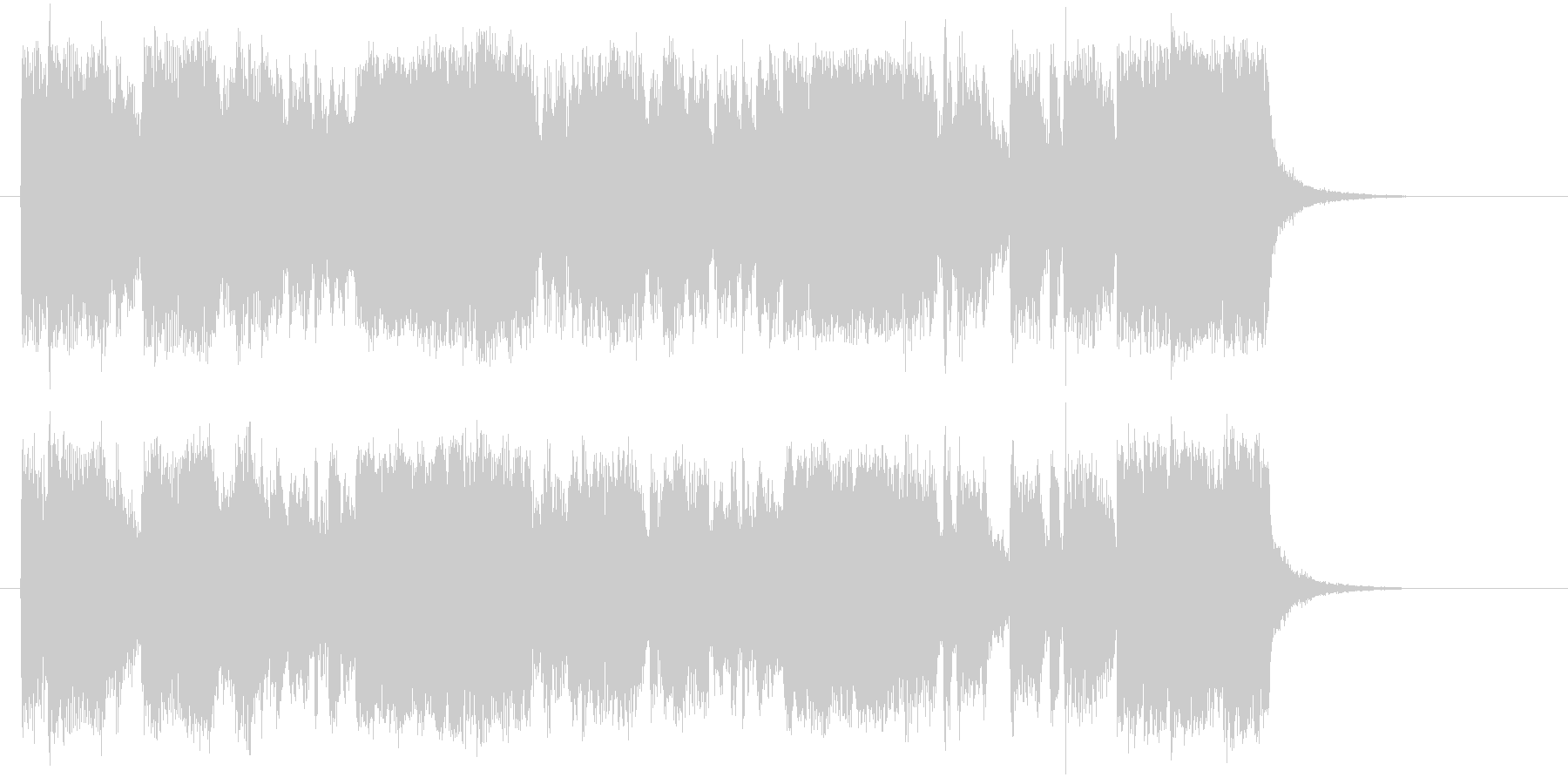 勢いある軽快なトランペットポップジングルの未再生の波形