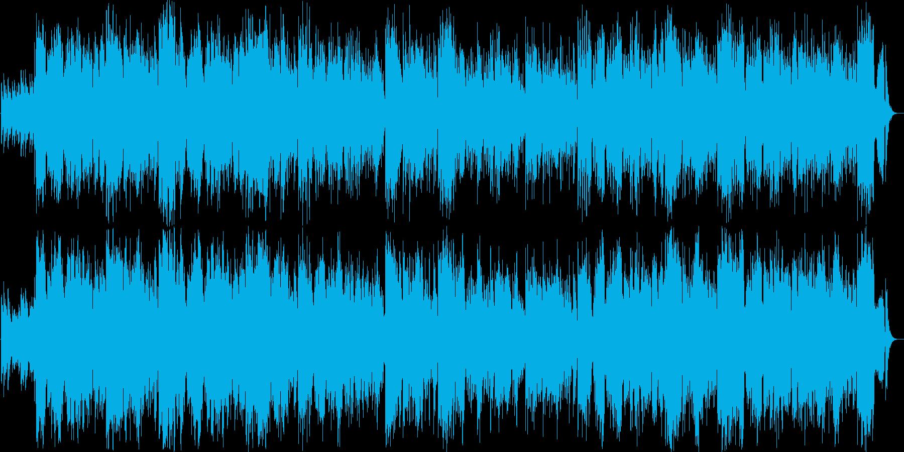 ピアノが自転車で走ってる感じを表現の再生済みの波形