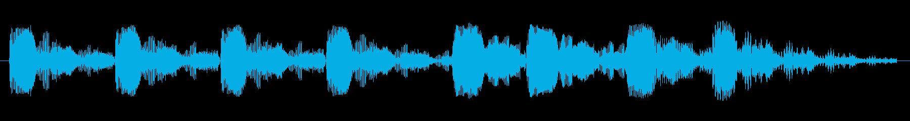 歪んだビープパルスの再生済みの波形