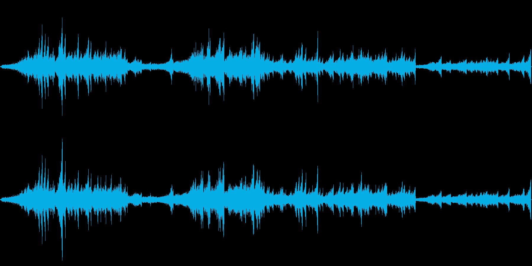 恐怖を演出する音の再生済みの波形