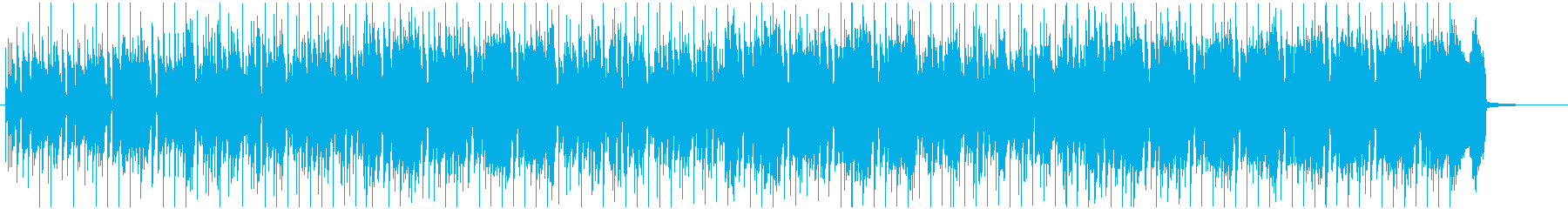 情熱的なサックスとロックバンド風ポップスの再生済みの波形