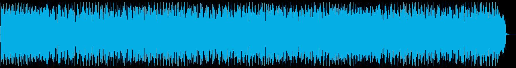 なめらかでやさしいメロディーの再生済みの波形