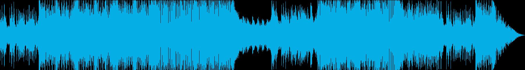 アニソンOP風の気持ちが高まる曲の再生済みの波形