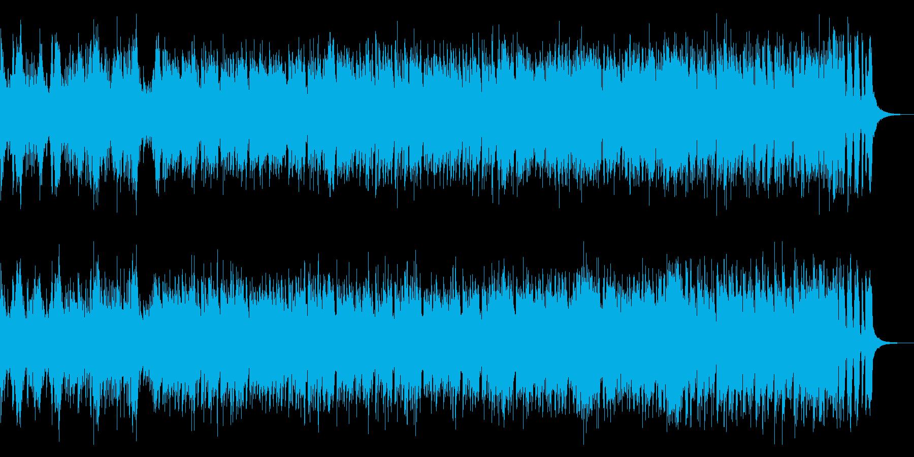 疾走感を印象させるピアノのメロディの曲の再生済みの波形