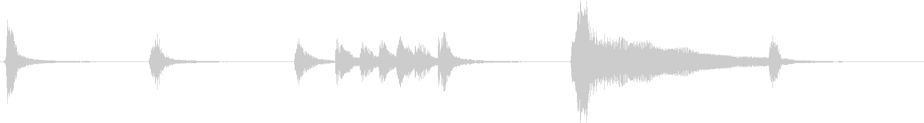 トムとジェリー風なアニメ音楽「忍び足」1の未再生の波形