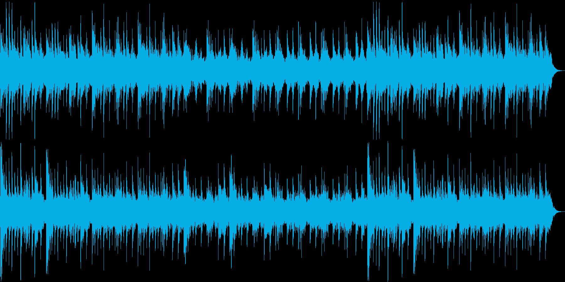 優しい癒し系シンセサイザーサウンドの再生済みの波形