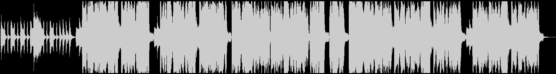 少しコミカルな三拍子のハロウィン風BGMの未再生の波形