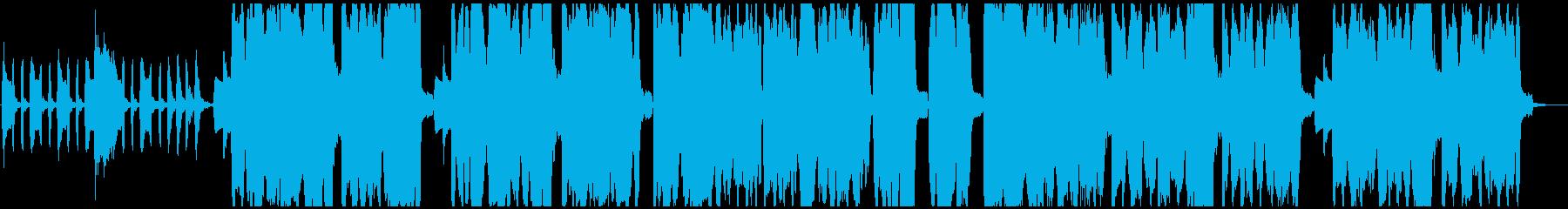 少しコミカルな三拍子のハロウィン風BGMの再生済みの波形