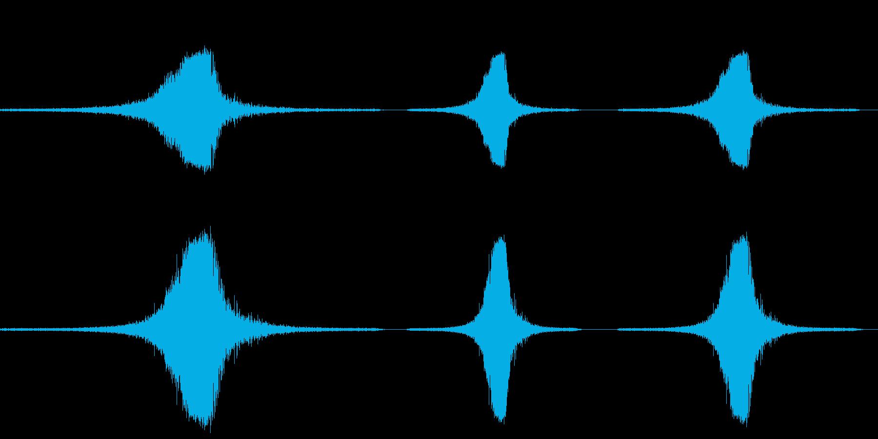 ジェット飛行機陸の再生済みの波形