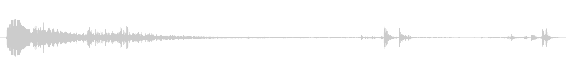 ショットガンポンプ1の未再生の波形