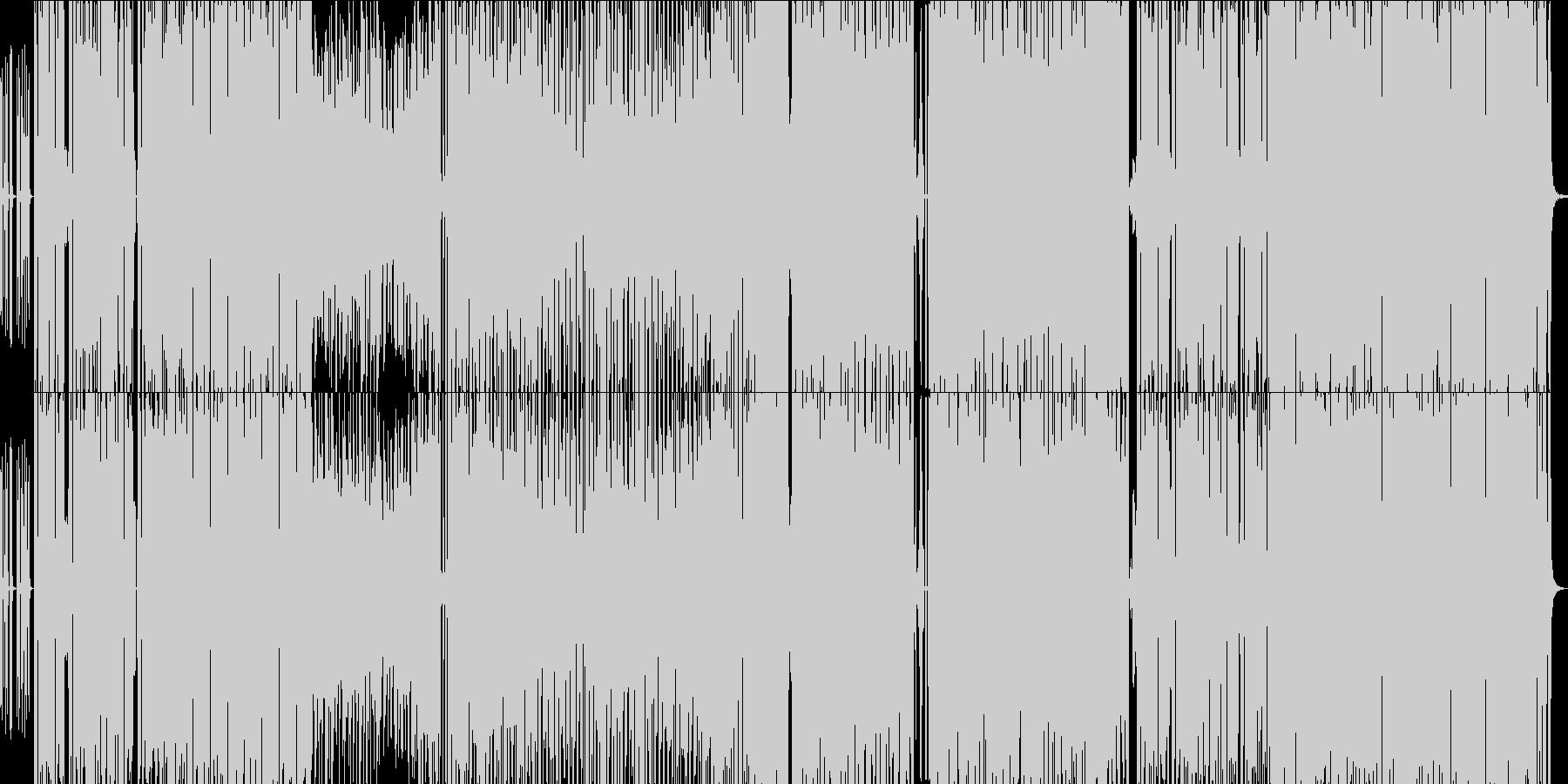 ハロウイン系ライトホラーなEDM曲の未再生の波形