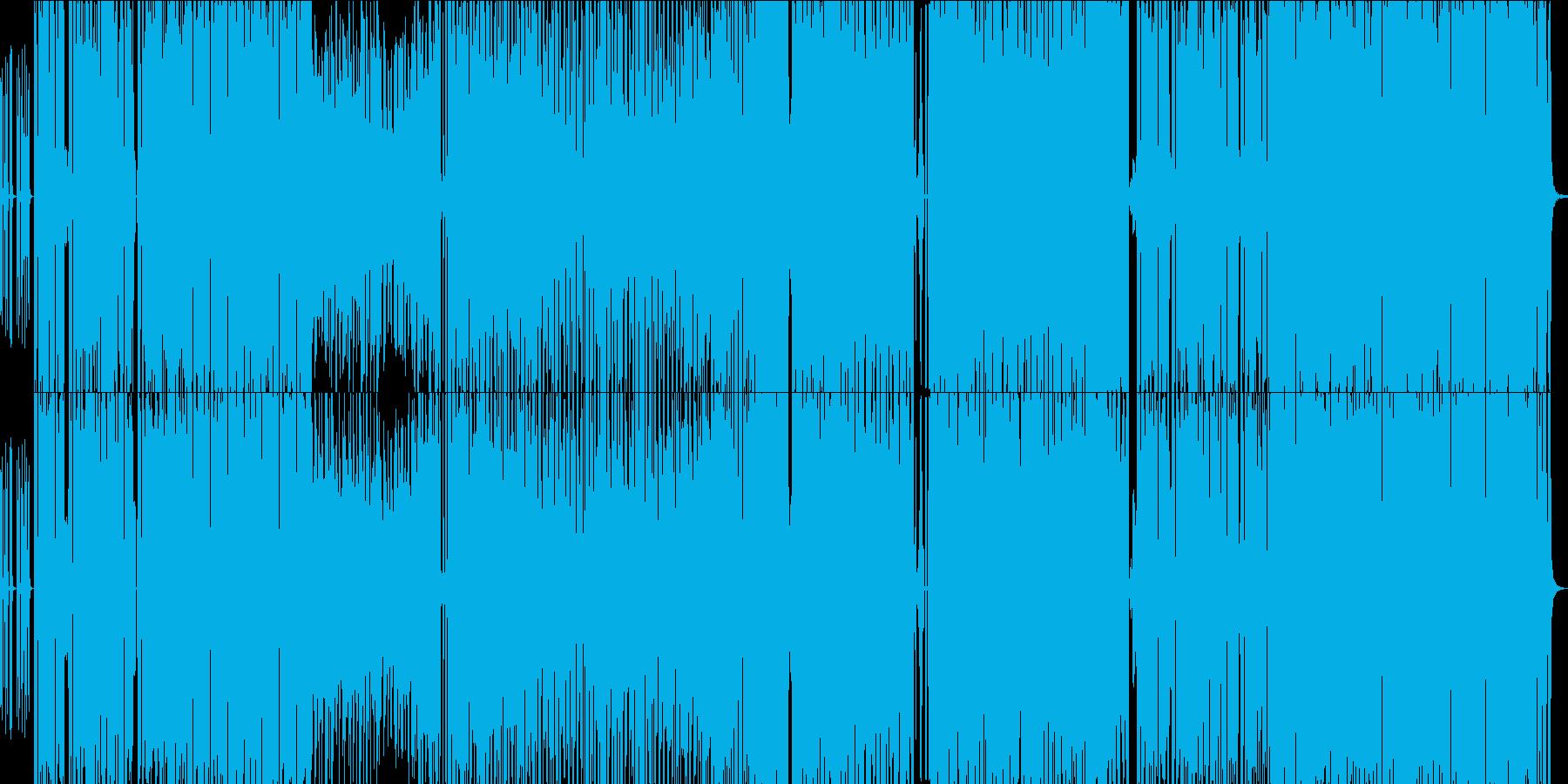 ハロウイン系ライトホラーなEDM曲の再生済みの波形