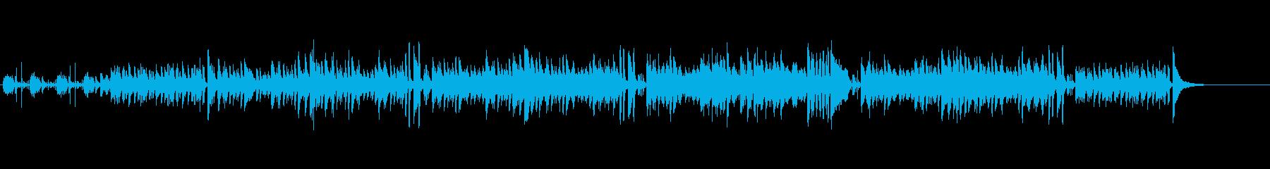 陽当たり的なイメージを持つボサノバ調の再生済みの波形