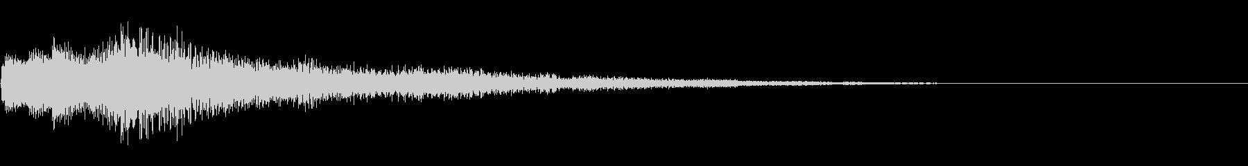 サウンドロゴ/癒し/企業VP/タイトルにの未再生の波形