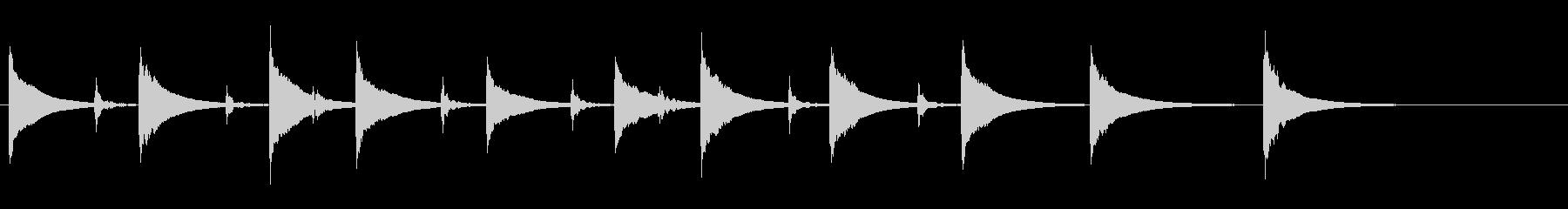 土着的トーキングドラムのフレーズ音の未再生の波形