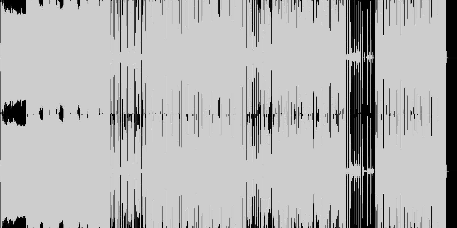 ドラムンベースを基調としたの未再生の波形
