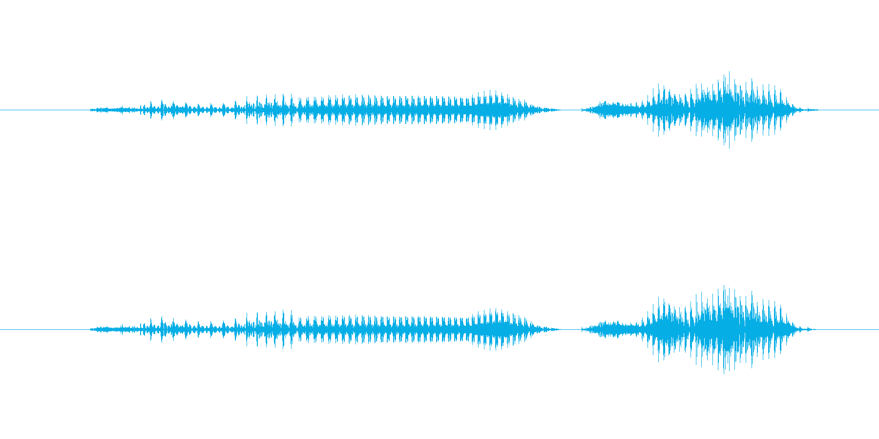 こんにちはの再生済みの波形