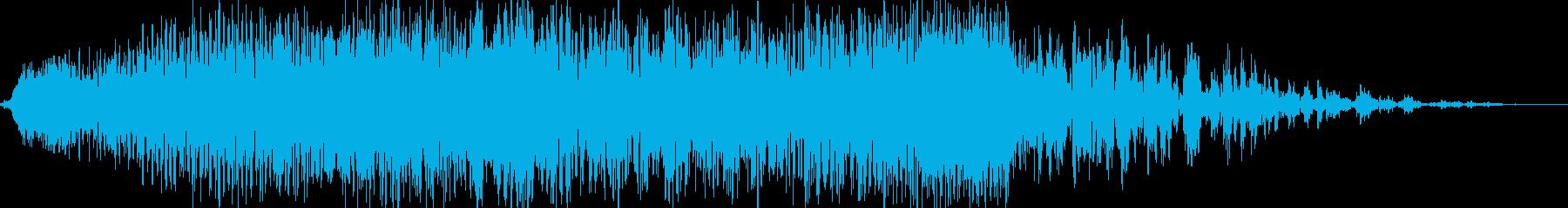 【ホラーゲーム】 物音 「接近」の再生済みの波形