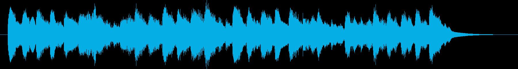 子供がはしゃいでいるような、元気なBGMの再生済みの波形