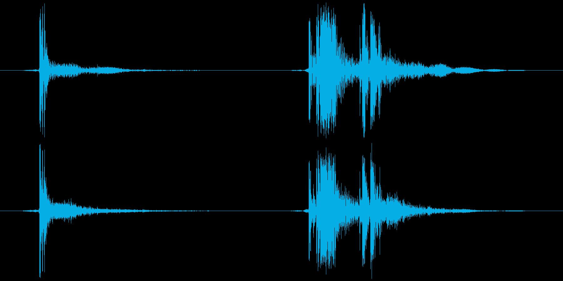セロハンテープ等 切る(チ、カッ)の再生済みの波形
