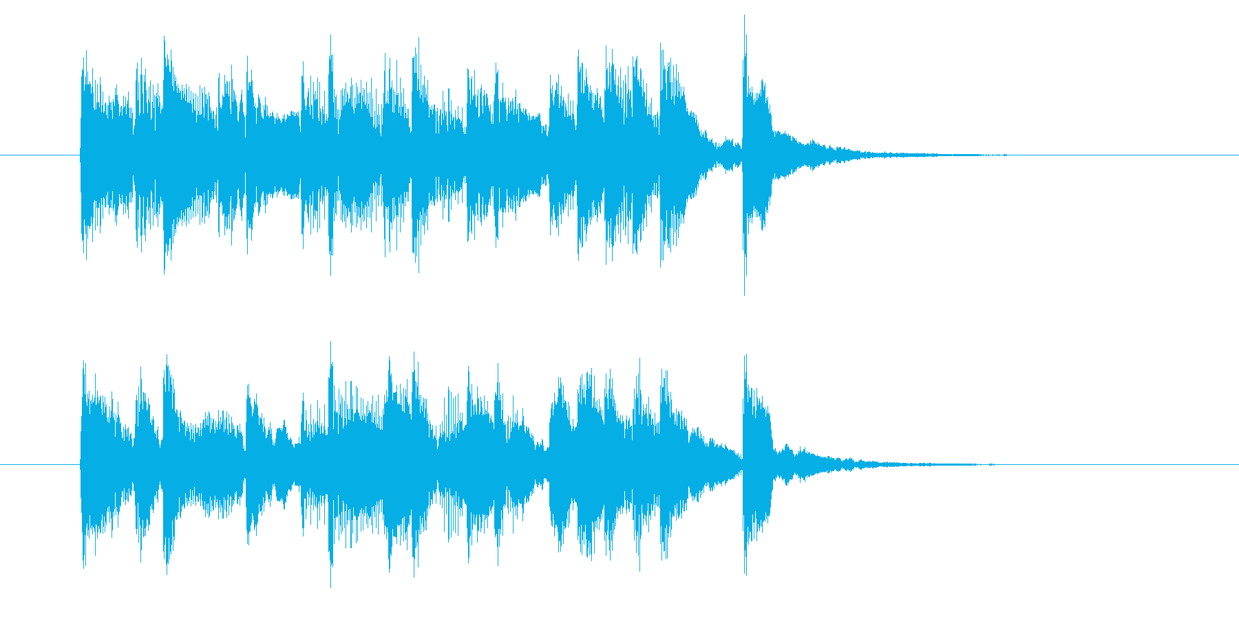楽しげで明るい弦楽器シンセサウンドの再生済みの波形