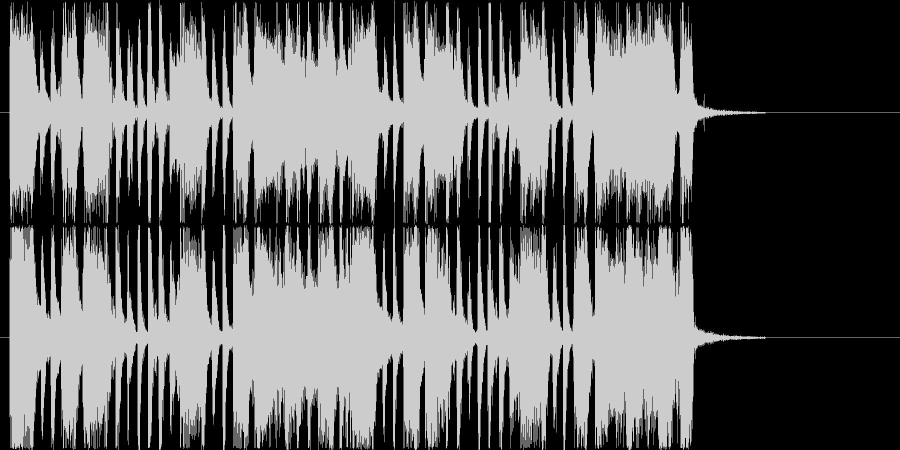 リズム感のあるロックなギターサウンドの未再生の波形