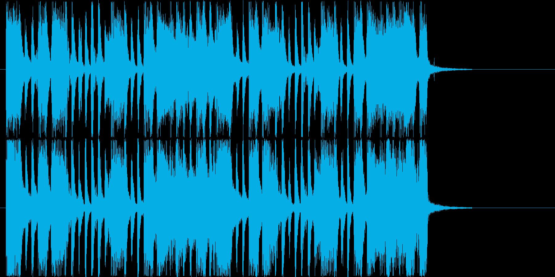 リズム感のあるロックなギターサウンドの再生済みの波形