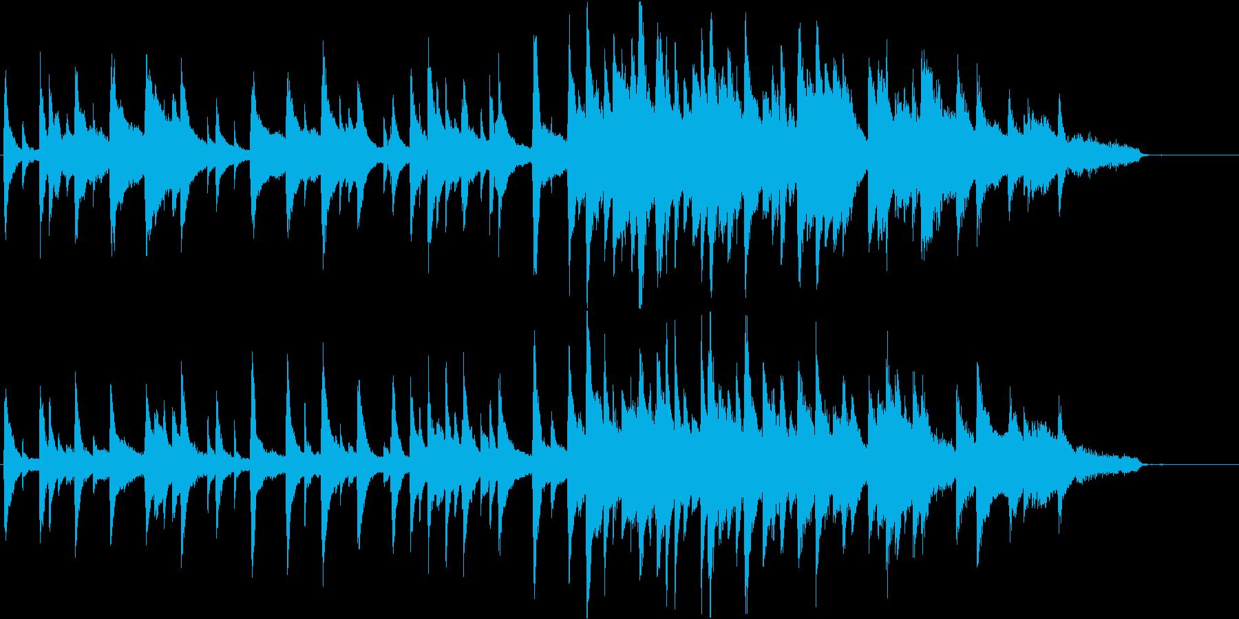 ピアノ・ソロ。映画のキッカケのシーン等にの再生済みの波形