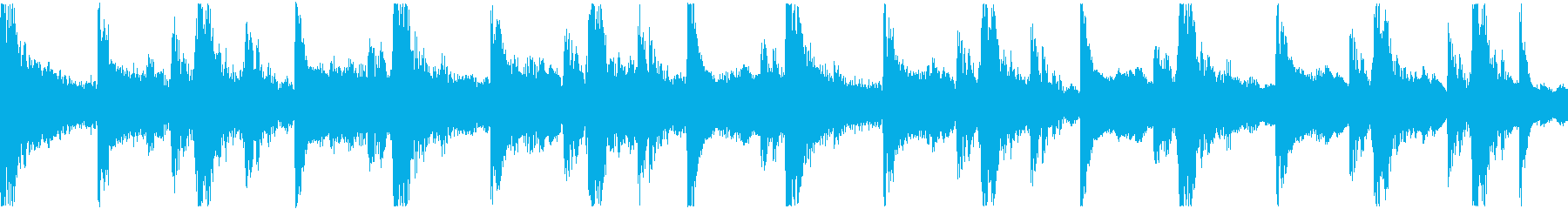 <ショートループ> ピアノ①+ビートBの再生済みの波形