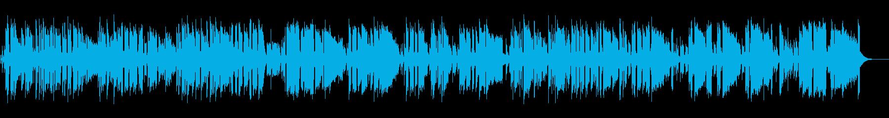 エネルギッシュでブルージーなエレキギターの再生済みの波形