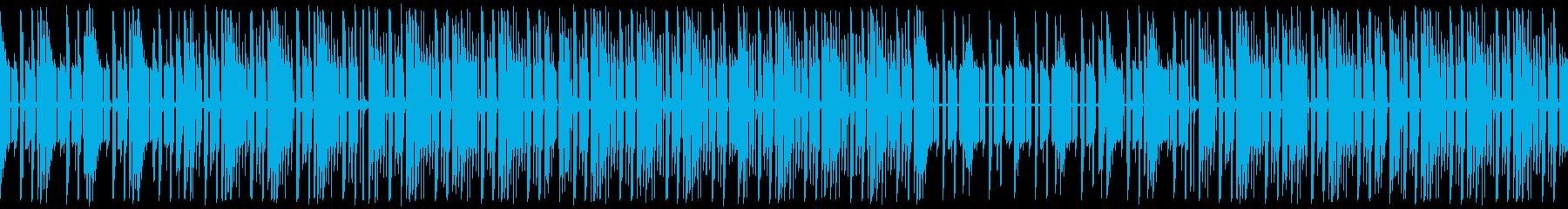 軽快なリズムのポップで楽しげなほんわか曲の再生済みの波形