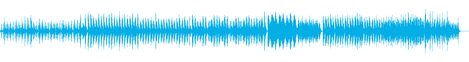 ハープの古代音楽風の神秘的な曲の再生済みの波形