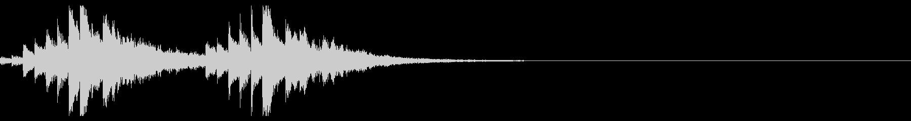 幻想的なうねりのあるシンセのキラキラ音の未再生の波形