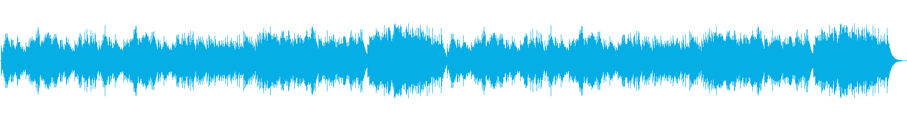 ミステリアスなチェレスタの再生済みの波形