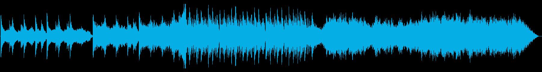 切ない→ワクワク→優しい3段階変化曲の再生済みの波形