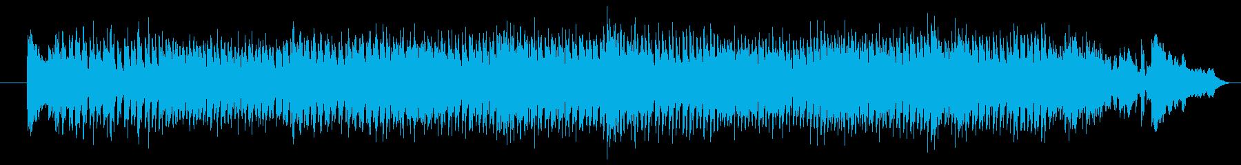 にぎやかでおしゃれなメロディーの再生済みの波形