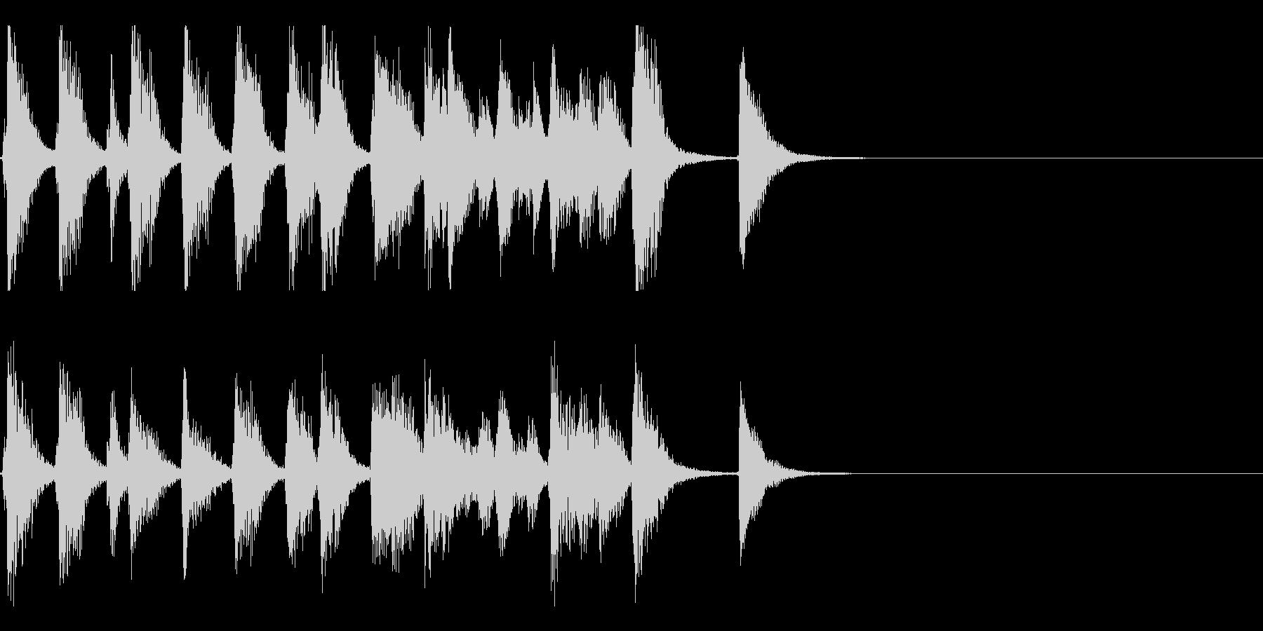 お洒落でリズミカルな6秒ジャズピアノ2の未再生の波形
