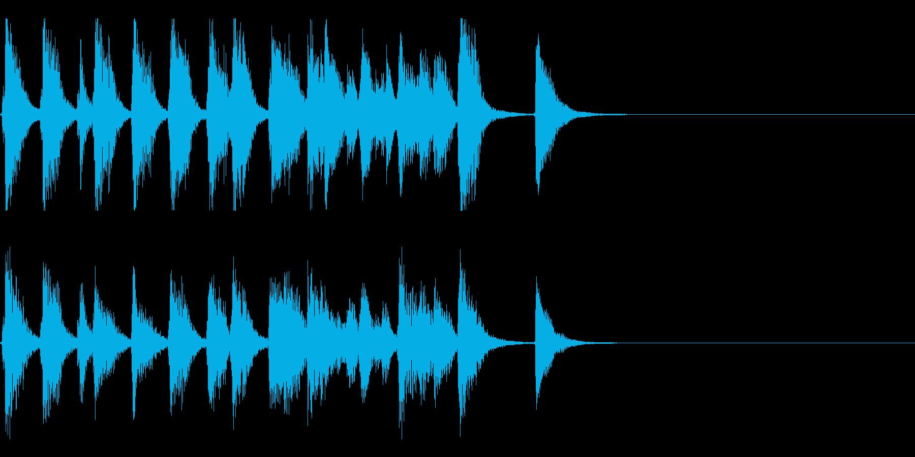 お洒落でリズミカルな6秒ジャズピアノ2の再生済みの波形