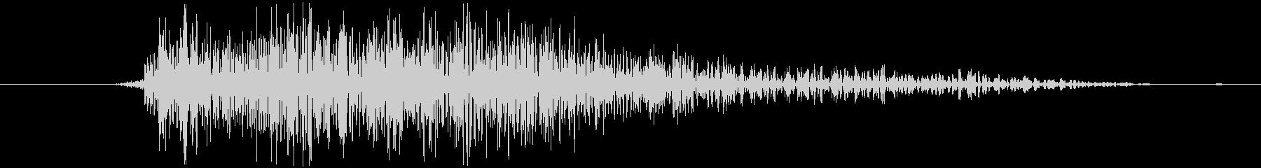 シューティングのショット音 5段階の2の未再生の波形