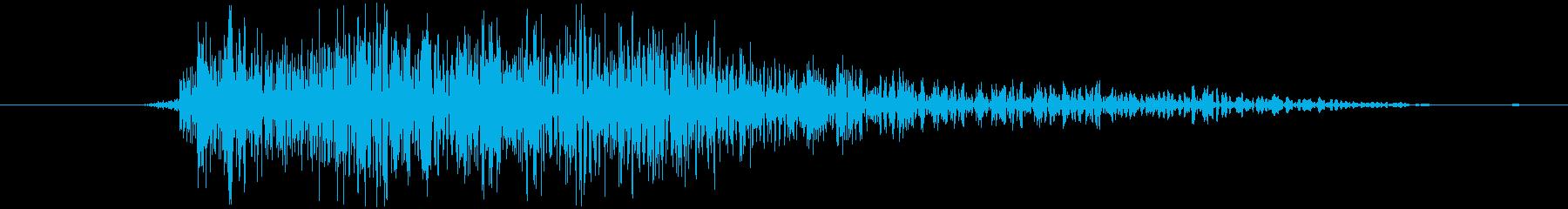 シューティングのショット音 5段階の2の再生済みの波形