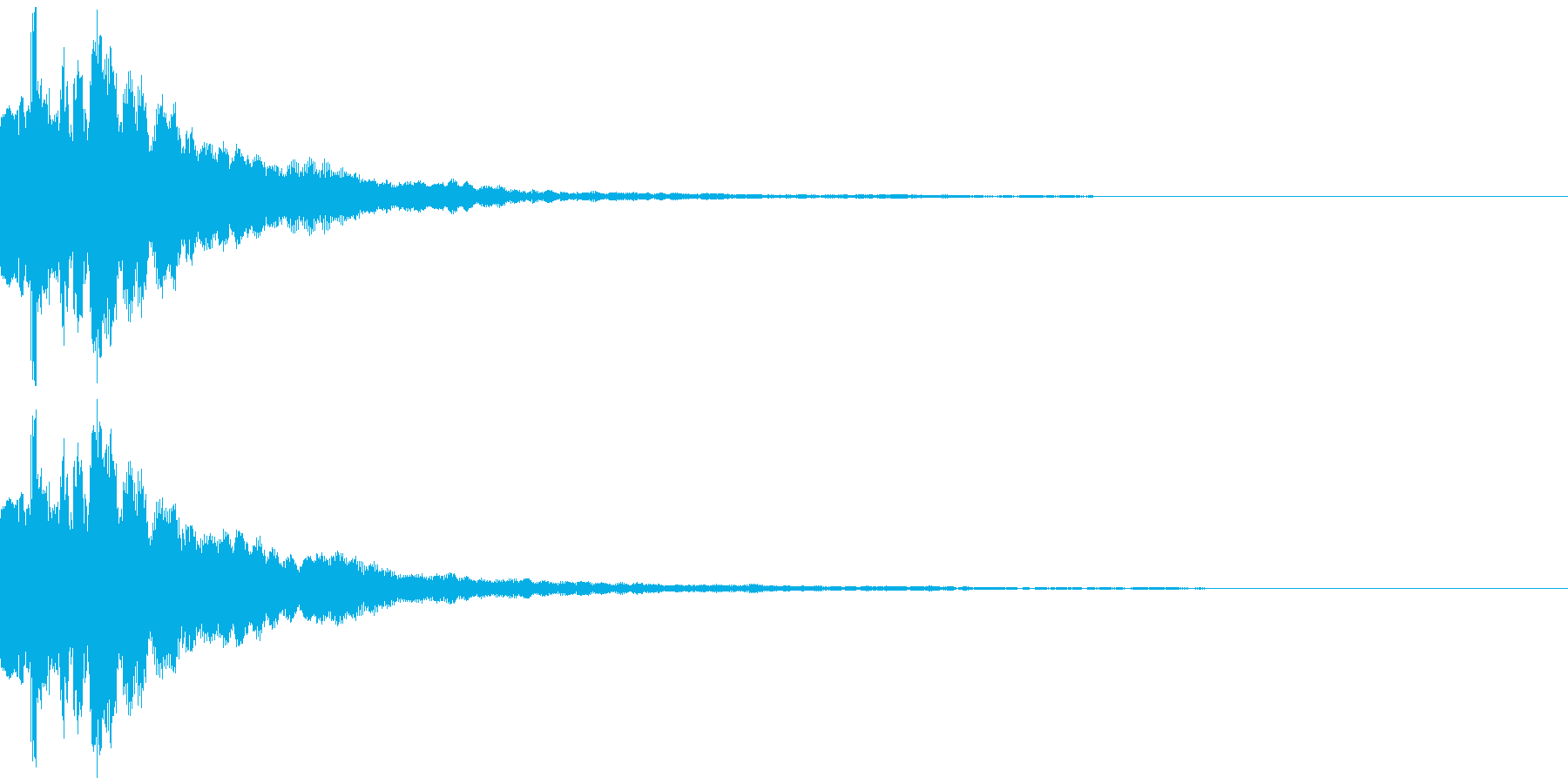テレビ番組・動画テロップ・汎用UI音gの再生済みの波形