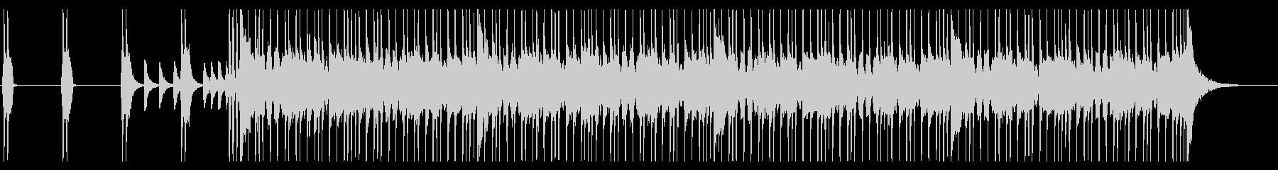 ロックギター、リフが繰り返されるBGM5の未再生の波形