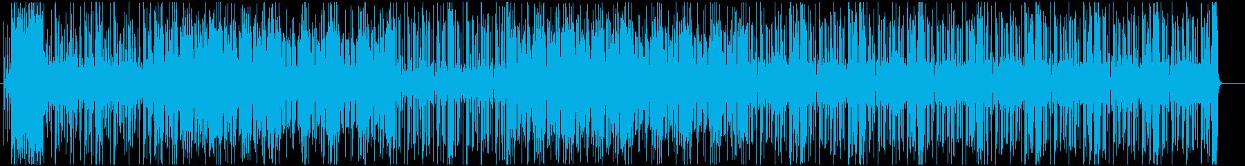 クールなオープニングに!70sファンク調の再生済みの波形