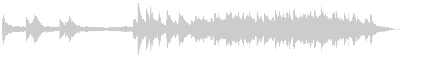 ピアノとストリングスの30秒CM向けの曲の未再生の波形