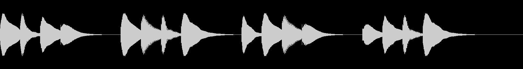 学校のチャイムの未再生の波形